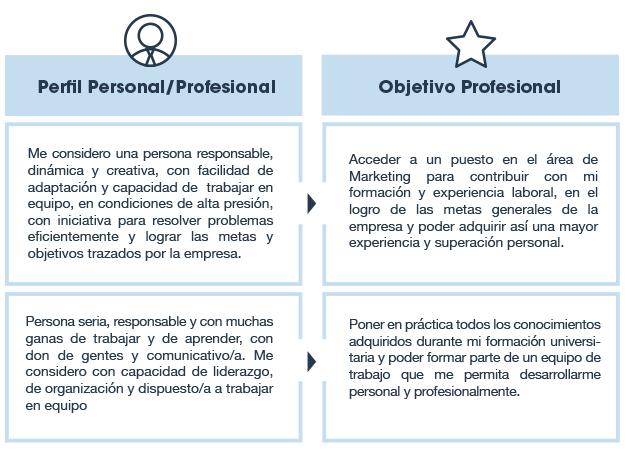 Perfil Personal Y Objetivo Profesional Usvirtualempleo