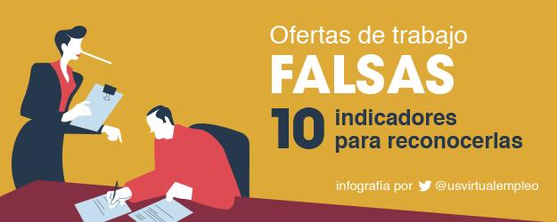 OFERTAS FALSAS DE TRABAJO 10 INDICADORES PARA RECONOCERLAS